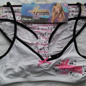 Disney Accessories - Girls 2pc Hanna Montana Bikini/Bra set.